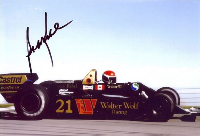 Bobby Rahal, Wolf Racing F1, signed 7x5 inch photo.